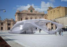 Inflatable Sculpture pavilion