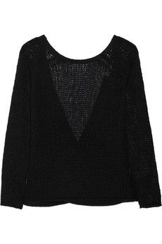 Open-knit cashmere and silk-blend sweater