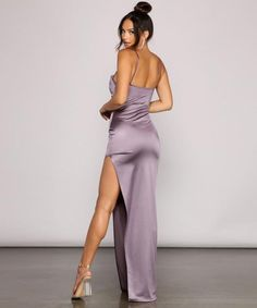 Hoco Dresses, Satin Dresses, Homecoming Dresses, Sexy Dresses, Dresses For Sale, Indian Actress Pics, Windsor Dresses, Lilac Dress, Fitted Bodice