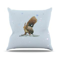 "Monika Strigel ""Squirrel"" Throw Pillow"