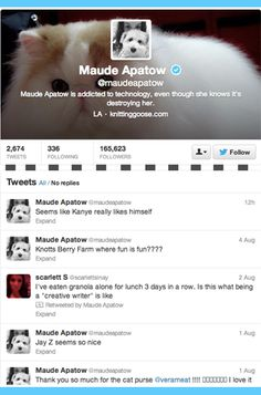 11 Celebrities to Follow on Twitter: Maude Apatow.
