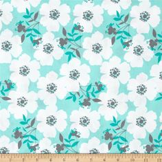 Lavishmint Fresh Picked Mint from @fabricdotcom  Designed by Jackie Studios for Camelot Fabrics, this cotton print is perfect for quilting, apparel and home decor accents. Colors include mint, teal, white and grey.