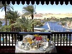 Breakfast at the Old Cataract in Aswan, Egypt