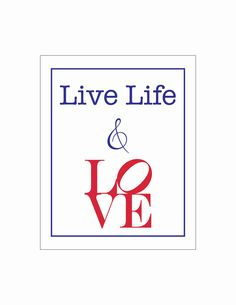 live life and LOVE (philadelphia love park sculpture )- 8 x 10 poster print. $10.75, via Etsy.