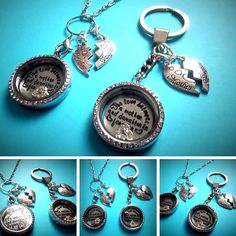 30mm   MOTHER & DAUGHTER   filled Memory Locket choice chain 77-gift - FREEPOST