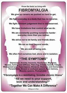 Know the facts about living with fibro