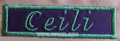 Applique Name Plate Embroidery File by HugLonger on Etsy