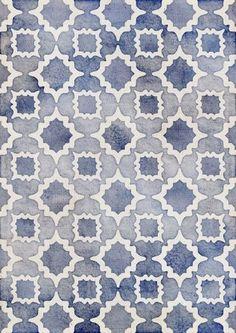 faded blue pattern (Univers Mininga)
