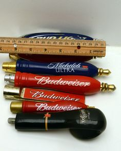 Bud Light Budweiser Michelob Amber Bock Beer Tap Lot Mini's Lot Of 7
