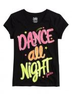 Justice-Girls Dance All Night Graphic Tee Dance Outfits, Girl Outfits, Girls Dancewear, Shop Justice, Justice Clothing, Crop Top Outfits, Tween Fashion, Girl Dancing, Cool Tees