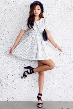 Striped Mini Dress from en.aura-j.kr // $46.55