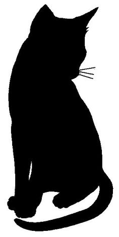 A Silhouette Cat – ClipArt Best – ClipArt Best - my. Silhouette Chat, Animal Silhouette, Cat Silhouette Tattoos, Black Cat Silhouette, Shadow Silhouette, Applique Patterns, Quilt Patterns, Stencils, Posca Art