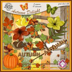 AUTUMN DELIGHT - Elements and Papers