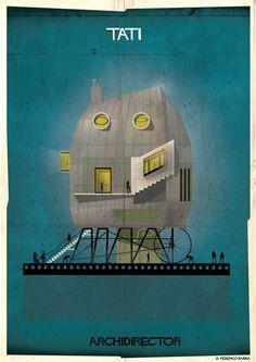 Jacques Tati   Un architecte imagine les demeures des grands réalisateurs
