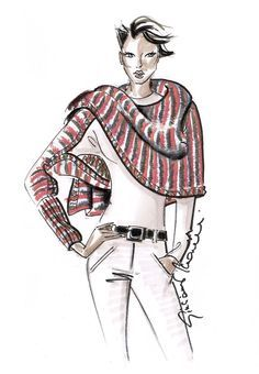 Lovely knitting-idea. #shawl #poncho