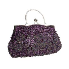BMC Purple Beaded Sequin Design Metal Frame Kissing Lock Clasp Satin Interior Evening Clutch - Exuding Eloquence Collection b.m.c,http://www.amazon.com/dp/B00H7NSPD2/ref=cm_sw_r_pi_dp_Vwjrtb1WTJQD87R6