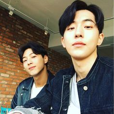 Jisoo and Nam joo hyuk - I just pictured walking along in public and dropping something, bending over to pick it up and then standing up to see this at the table next me, looking at me.. and I jump back in shock, fall over and hurt myself..