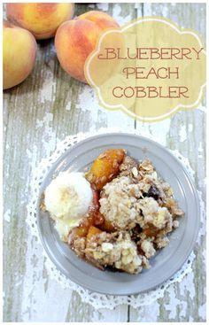 Perfect Blueberry Peach Cobbler #peachcobbler #recipe
