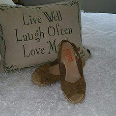 Michael Kors Shoes - Michael Kors Tan Wedge Heels