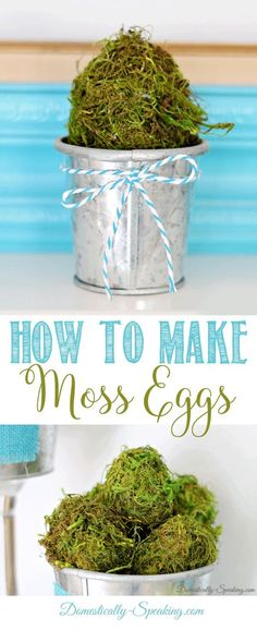 How to Make Moss Eggs | Easy DIY Easter Decor | Spring Craft Ideas