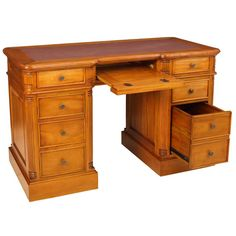 Colonial computer desk with filing dwr WD02P-CP