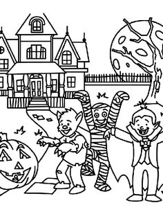 Discover Fun Scary Halloween Coloring Pages Costumes 2012 for Kids. Fun Scary Halloween Coloring Pages Costumes 2012 are Fun Coloring Sheets for Kids on Halloween. Scary Halloween Coloring Pages, Halloween Bingo, Halloween Worksheets, Halloween Class Party, Halloween Frames, Halloween Cartoons, Halloween Banner, Halloween Crafts For Kids, Halloween Ideas
