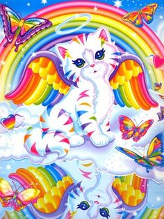 Lisa Frank angel cat