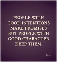 Character is most important