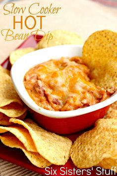 Six Sisters Slow Cooker Hot Bean Dip