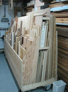Lumber rack. oh my goodness...Clayton PLEASE make this for yourself!