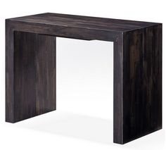 Table console extensible bois massif 2 rallonges Woodini wenge ...