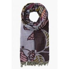 Awakening Shawl Gift Box Logan Flower Aubergine, In stock and available for fast dispatch from our shops in Scarborough & Whitby.  Beautiful shawl made from the softest woven wool. A Seasalt favourite in pretty, floral patterns that you won't find any