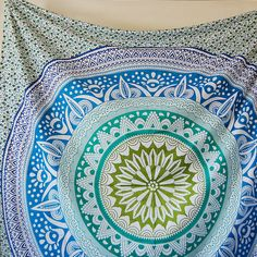Queen Mandala Wall Hanging 85X96 Double Bed Sheet by Hymnicraft