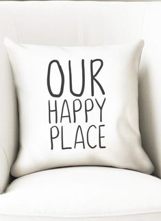 This throw pillow cover will make a great housewarming gift for a couple or newlyweds as it complements any new house decoration style. It includes the words our happy place in a black and white design. It has a zipper at the bottom for easy cleaning. The cover material is microfiber polyester (soft