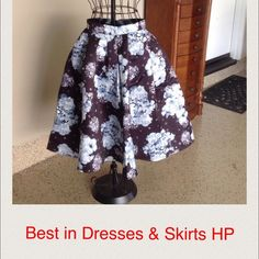 """Beautiful Black, Gray & White Skirt. Runs small Fully lined skirt with beautiful colors. Waist is 27"""", length is 26"""". Best In Dresses & Skirts Host Pick Choies Skirts"""