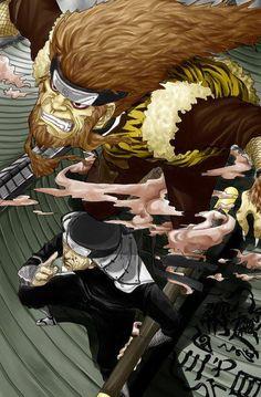 Sarutobi Hiruzen y el rey mono Enma - Naruto Naruto Uzumaki, Boruto, Hinata, Kakashi Itachi, Naruto Art, Gaara, Anime Naruto, Dragon Ball Gt, One Punch Man