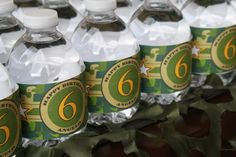 Camouflage Water Bottle Labels Printable Camo by ThatPartyChick, $8.00