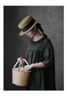 【楽天市場】【送料無料】Joie de Vivre フレンチリネンリアクティブダイブロドリールーシュドレス:BerryStyleベリースタイル Korean Babies, Cowboy Hats, Sewing, Straw Bag, Dresses, Baby, Fashion, Vestidos, Moda