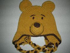 Silly Bear Crochet Hat by JensNeedleKnows on Etsy,