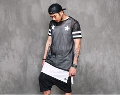 Mens VANDALIQUE 99 Mesh Net Short Sleeve Tshirt at Fabrixquare $36.00