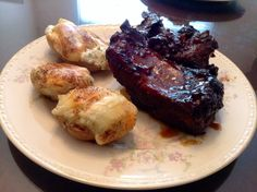 Slow cooked pork ribs and all dressed double baked potatoes... #winning