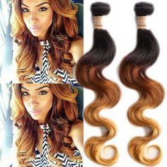 100g/bündeln 3 Ton Schatten Körperwelle Mensch Haarverlängerung Haareinschlag