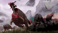 Force-User Riding a Reek in a Herd of Reeks Alien Creatures, Fantasy Creatures, Star Wars Species, Star Wars Light, Star Wars Characters Pictures, Star Wars Novels, Aliens, Star Wars Facts, Star Wars Vehicles