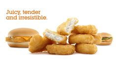 Chicken & Fish From our ever-popular Chicken McNuggets, our fabulously fresh salads or the classic Filet-O-Fish, both chicken and fish from McDonald's are delicious choices. Mcdonalds Coupons, Mcdonalds Chicken, O Fish, Snack Recipes, Snacks, Chicken Wraps, Sweet Potato, Sandwiches, Chips