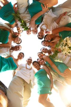 Wedding photo idea, but with just the bridesmaids :)