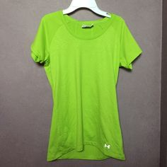 Under Armour Semi-Fitted Heat Gear Tee Semi-fitted, Dri-Fit material. Worn once, like new condition. Feel free to make an offer! Under Armour Tops Tees - Short Sleeve