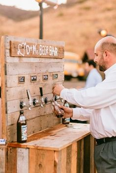 tapped beer instead of paying a bartender??