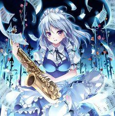 ♪♪ Kenny G - Songbird ♪♪ Anime Chibi, Anime Art, Saxophone, Adventures In Wonderland, Alice In Wonderland, Girls Album, Kawaii Anime Girl, Anime Girls, Creative Illustration