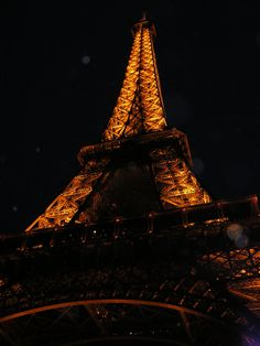 Eiffel Tower at night...I WILL see this!