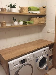 43 Small Farmhouse Laundry Room Ideas Look Bigger Laundry Room Organization, Laundry Room Design, Laundry Room Inspiration, Small Laundry, Küchen Design, Design Ideas, Storage Spaces, Home Furnishings, Home Furniture